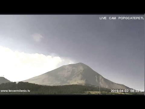 Monitoreo Volcán Popocatépetl EN VIVO