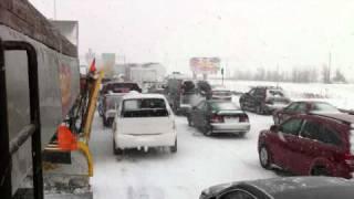 Autoroute 20 fermée : Mots du déneigeur