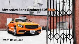 Mercedes Benz Brabus 850 GTA V Mod! with Download!