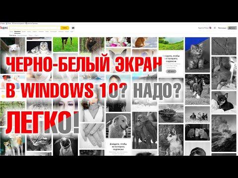 Делаем Ч/Б экран на настольном компьютере или ноутбуке под Windows 10. Быстрый совет