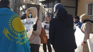 Митинг Назарбаев сайлауына Карсы. Алматы