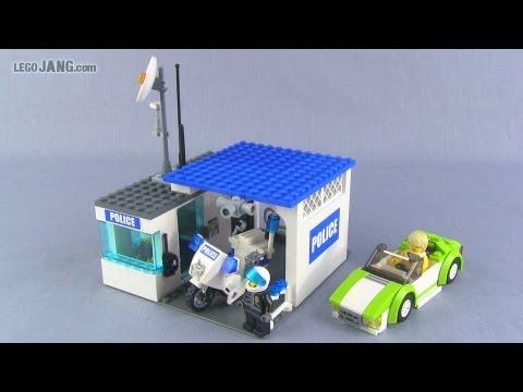 LEGO police kiosk & sports car custom MOCs