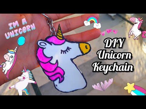 DIY KAWAII UNICORN KEYCHAIN 💖   HOW TO MAKE KEYCHAINS  #handmadethings #crafts #unicorn