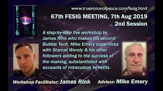 Gambar cover FESIG 67th Meeting James Rink n Mike Emery BubbleTech workshop 7 Aug19