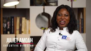 Penplusbytes' Executive Director Juliet Amoah gives us her message on our 20th Anniversary