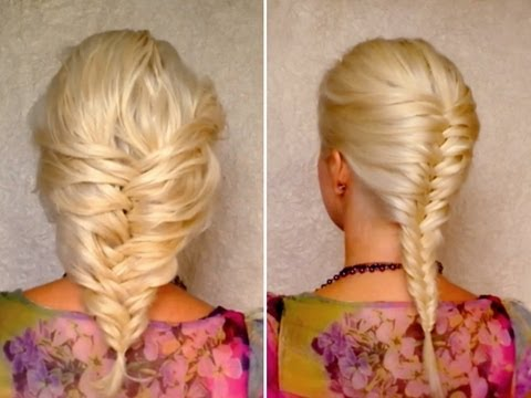 French fishtail braid for short medium and long hair for Fish tail hair