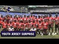 We Surprised a  Football Team With New Jerseys. Watch Their Priceless Reaction | Ravens