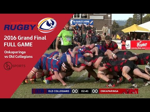 Old Collegians vs Onkaparinga | South Australian Rugby Union 2016 Grand Final