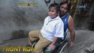 Front Row: Bata, hinahatid-sundo ng ama sa paaralan gamit ang wheelchair