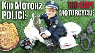 Kids Motorz Police Motorcycle! Kid Cop and Robbers! | Crazy8Family