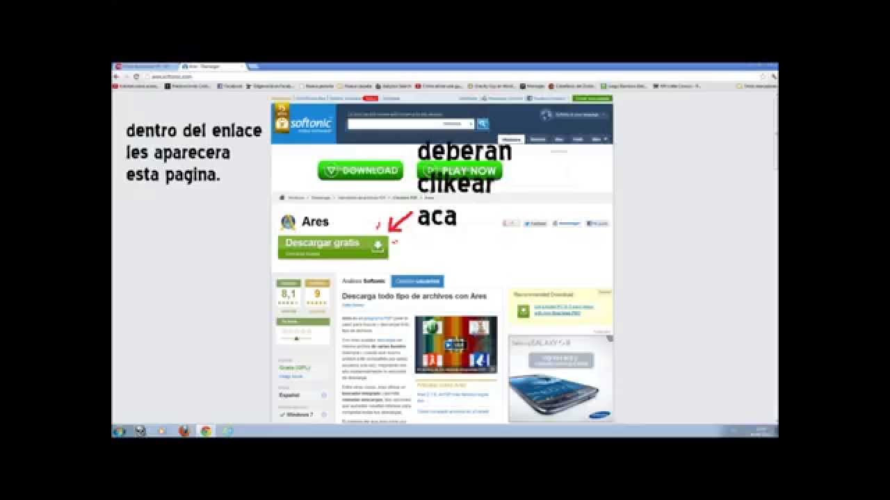Como descargar ares completo y gratis y libre de virus for Descarga are
