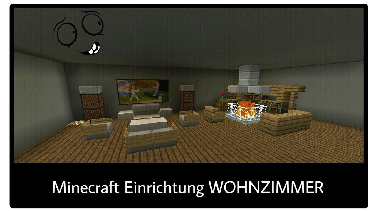 Minecraft Einrichtung Wohnzimmer Hanzgy Youtube