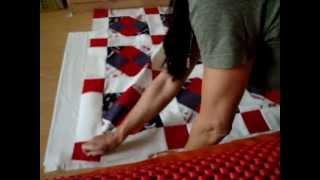 Patchwork Krabbeldecke Quilt selber nähen. Teil 5/6. Zum Steppen vorbereiten.
