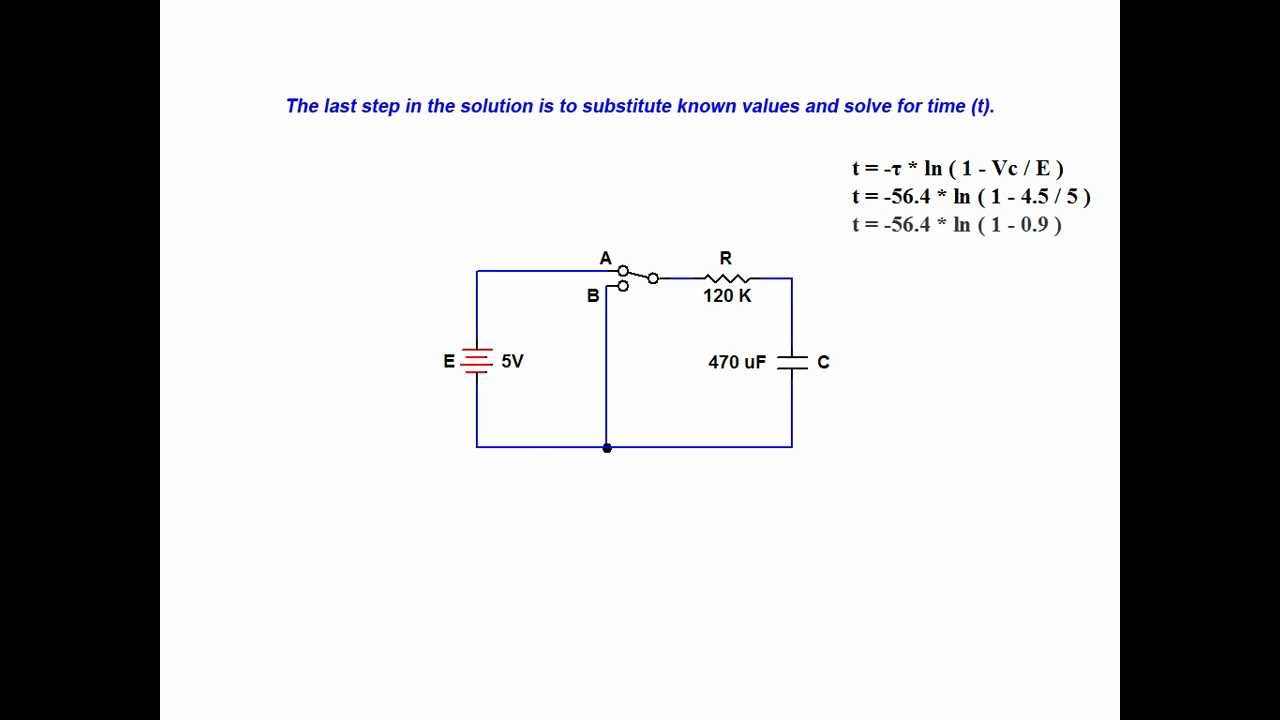 Online tutorial on capacitor transient response - in series RC ...
