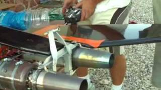 RC MODEL JET VTOL TAILSITTER TWIN GAS TURBINE ,VECTORED EXHAUST ,FIRST TEST !!!