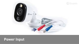 Swann 2MP SWDVK-845804WL 1TB 8CH 4x Bullet White Light Cameras CCTV Kit (8x4) video