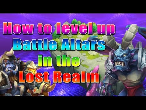 Castle Clash-How To Level Up Lost Realm Battle Altars