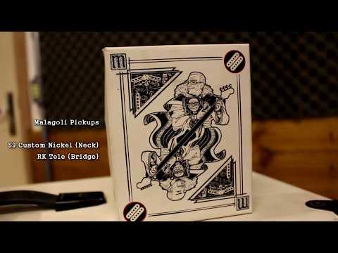 Rick Barros - Guitarra Blend TL Classic Com Captadores Malagoli 59 Custom Nickel + RK Tele
