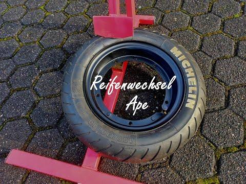 Piaggio Ape 50 Reifenwechsel
