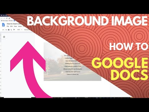 How to Insert a Background Image in Google Docs