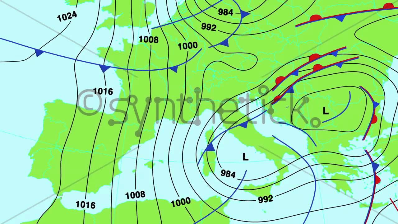 Weather Forecast Map Of Central And South Europe UK Italy Spain - Map of united states weather forecast