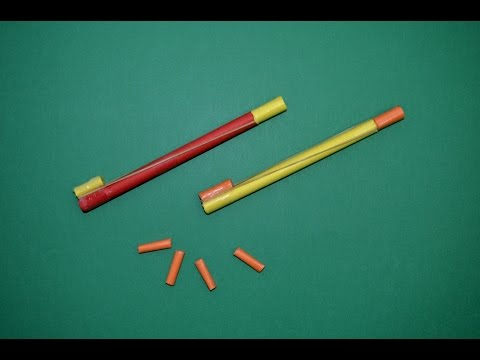 Como hacer mini Pistola de Papel que Dispare | Armas Caseras Fáciles