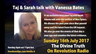 Taj & Sarah Adams talk with Vanessa Bates on The Divine Truth on Revolution Radio