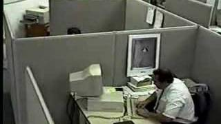 Office worker hits and kicks computer(, 2007-02-12T19:48:11.000Z)