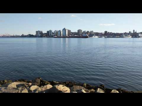 Canada Steamship Lines ship goes through Halifax Harbour (March 18, 2017)