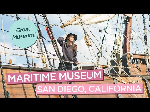 Maritime Museum of San Diego, California - Old Ships & Submarines!