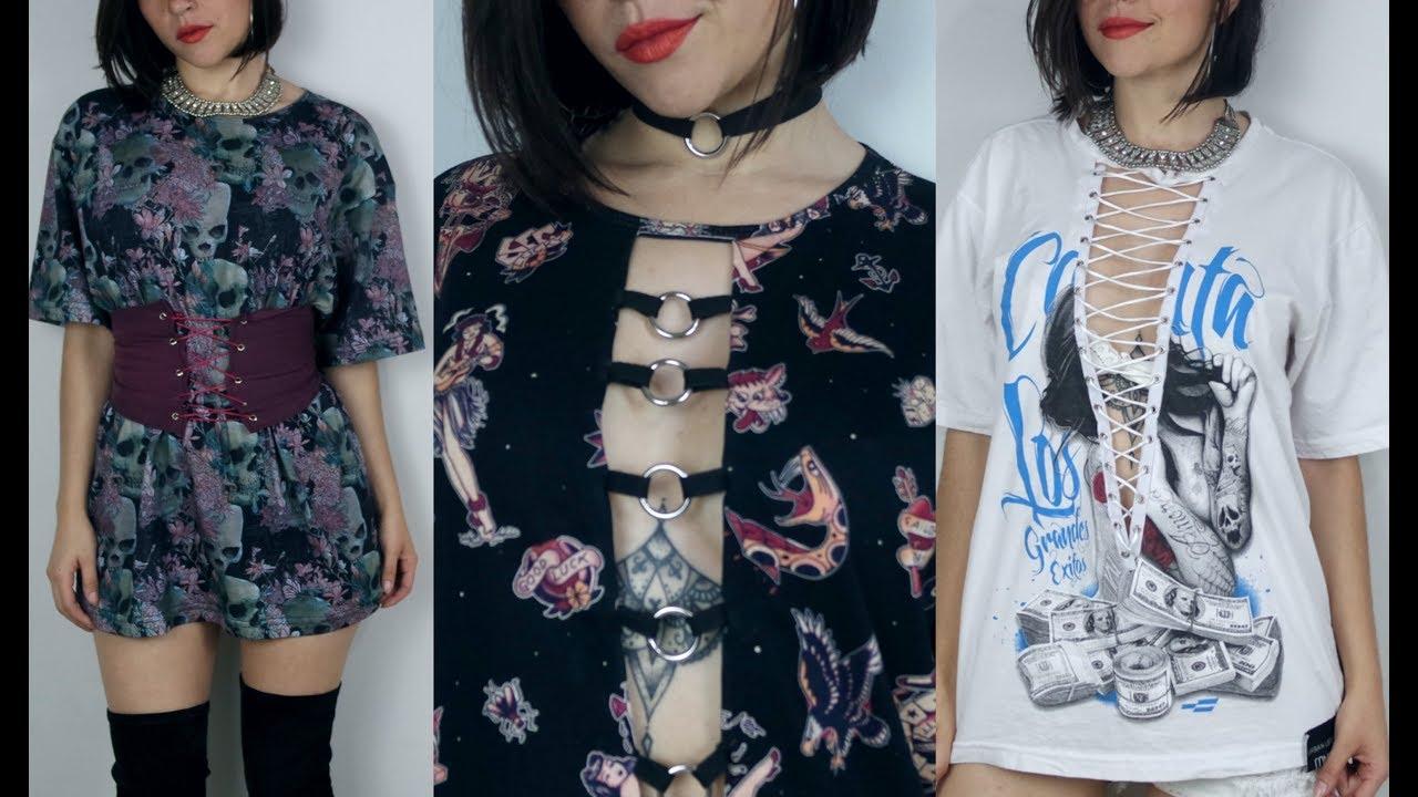 3e43e2fdd Idéias para customizar camisetas + Corset Belt - YouTube