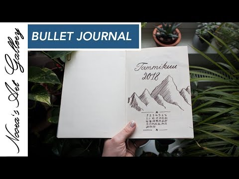 Bullet Journal - Tammikuu - Noora's Art Gallery
