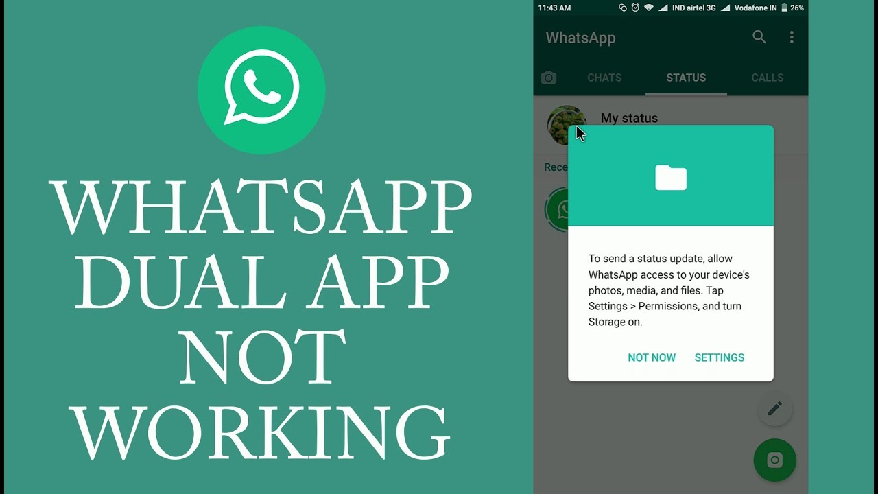 Whatsapp Dual App Not Working - Miui 8 Dual App storage Problem Solved