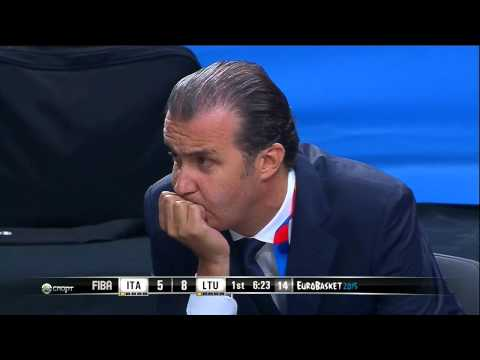 EuroBasket 2015 Lithuania Italy Quaterfinals (Russian Commentary)
