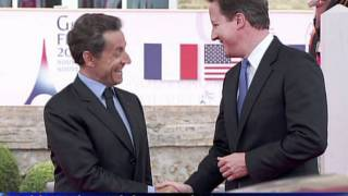 G8 leaders arrive for summit in France