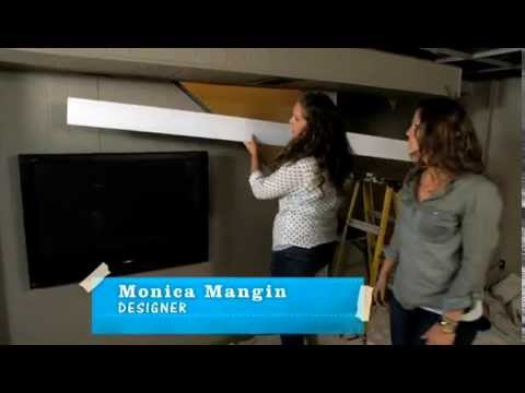 Diy Flat Screen Tv Frame Youtube