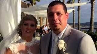 Portofino Hotel wedding ceremony testimonial