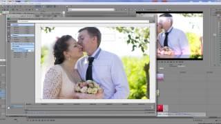 Как сделать свадебное слайд-шоу в Sony Vegas?