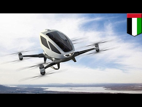 Taxi drones: Dubai plans to introduce flying Ehang 184 taxi drones by this summer - TomoNews