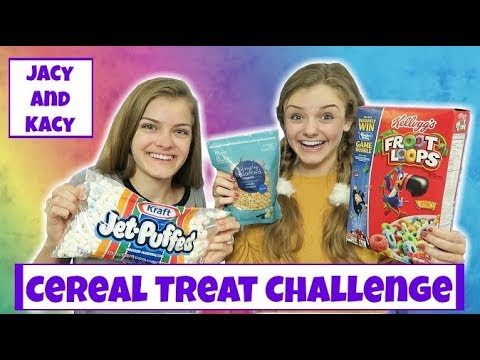 Cereal Treat Challenge ~ Jacy and Kacy