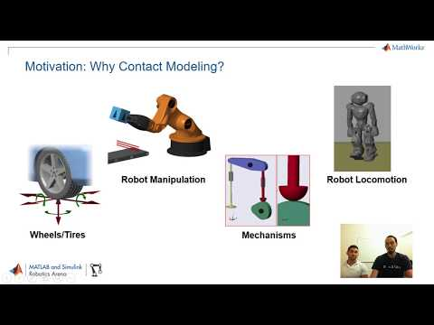 Introduction to Contact Modeling, Part 1 - MATLAB and Simulink Robotics Arena