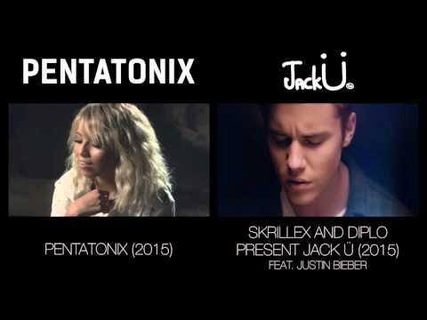 Where Are Ü Now - Pentatonix & Jack Ü (side by side)