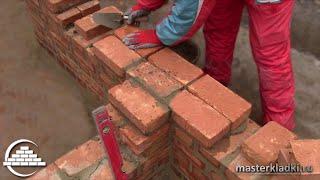 Примыкание стен в 1 кирпич/Однорядная система перевязки - [masterkladki](Видео-курс: