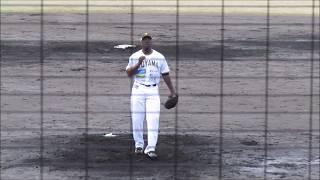 2018年4月8日 富山GRNサンダーバーズ デュアンテ・ヒース(Deunte Heath)投手