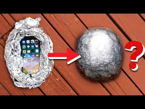 iPhone X Inside Polished Foil Ball? What Will Happen?!