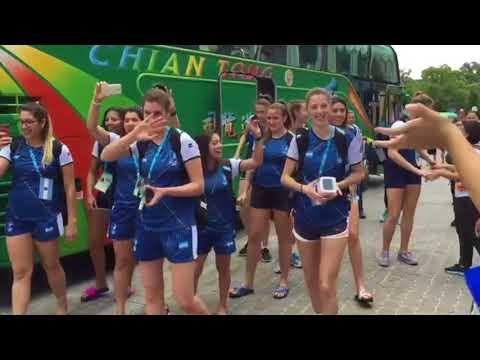 29th Summer Universiade Taipei 2017 | Argentina team dance before the match