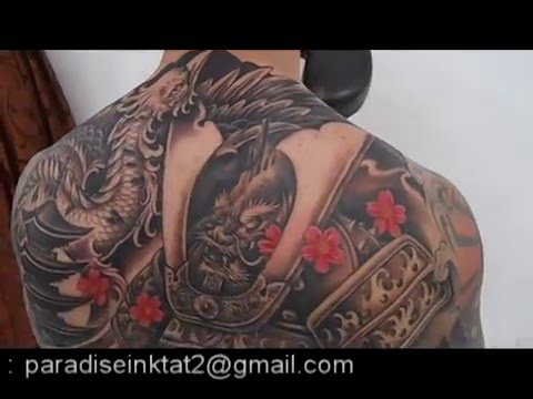 PARADISE INK TATTOO BALI , Japanese theme back