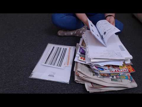ASMR Sorting Paper Documents Newspapers Magazines Intoxicating Sounds Sleep Help Relaxation