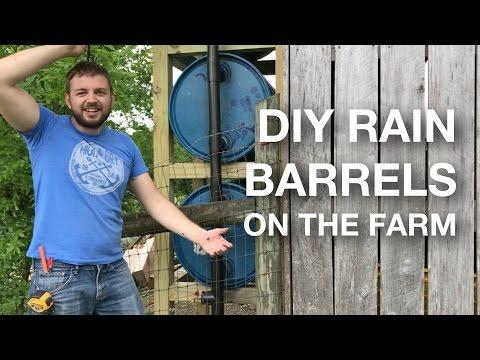 🔨  DIY Rain Barrel Build - Vertical 4 Stack 55-Gallon Drum Rainwater Harvesting System