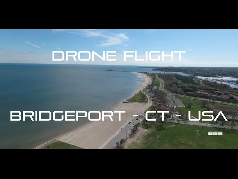 DRONE FLIGHT over Bridgeport - CT - USA